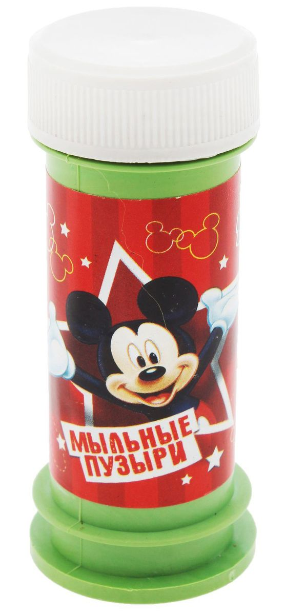 Disney Мыльные пузыри Мыльные пузыри Микки 45 мл disney мыльные пузыри ручка с печатью и светом тачки 10 мл