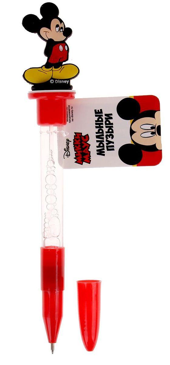 Disney Мыльные пузыри ручка с печатью и светом Микки Маус 10 мл + игрушка disney мыльные пузыри ручка с печатью и светом тачки 10 мл