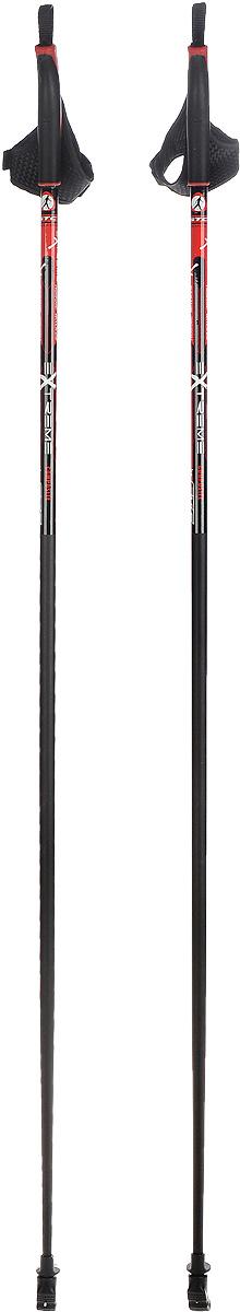 Палки для скандинавской ходьбы STC Extreme, цвет: черный, красный, длина 125 смEXTREME 125_черный/красныйПалки для скандинавской ходьбы STC Extreme обладают отличным запасом прочности, благодаря эргономичным свойствам стеклопластика. Специальный усиленный наконечник и резиновый башмачок придают надежности и долговечности при активном использовании этих палок на абсолютно любых поверхностях и в любое время года. Текстильные петли на ручках делают эксплуатацию более удобной.Как выбрать инвентарь для скандинавской ходьбы. Статья OZON Гид