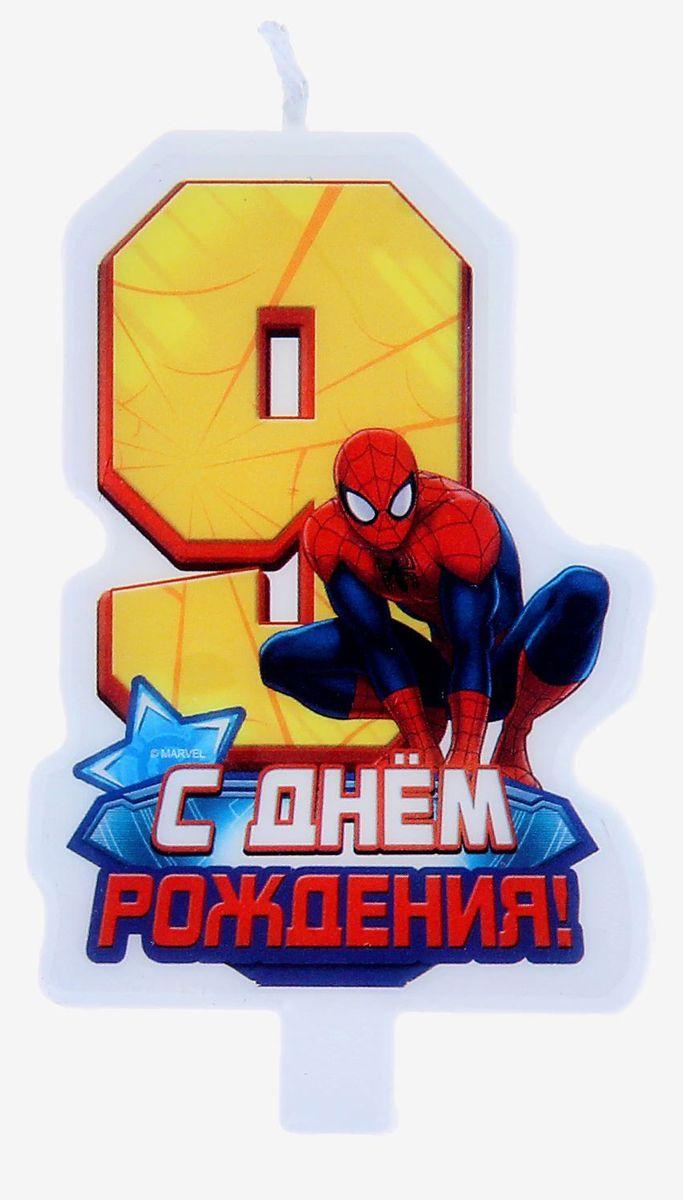 Marvel Свеча для торта С днем рождения Цифра 9 Человек Паук marvel гирлянда детская вымпел с днем рождения человек паук