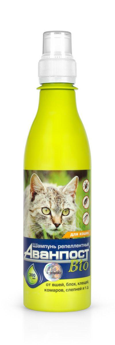 Шампунь для кошек VEDA Аванпост. Bio, репеллентный, 300 мл шампунь для короткошерстных кошек veda фитоэлита 220 мл