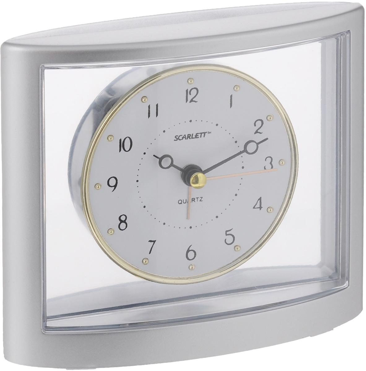 "Часы-будильник ""Scarlett"", цвет: серый металлик"