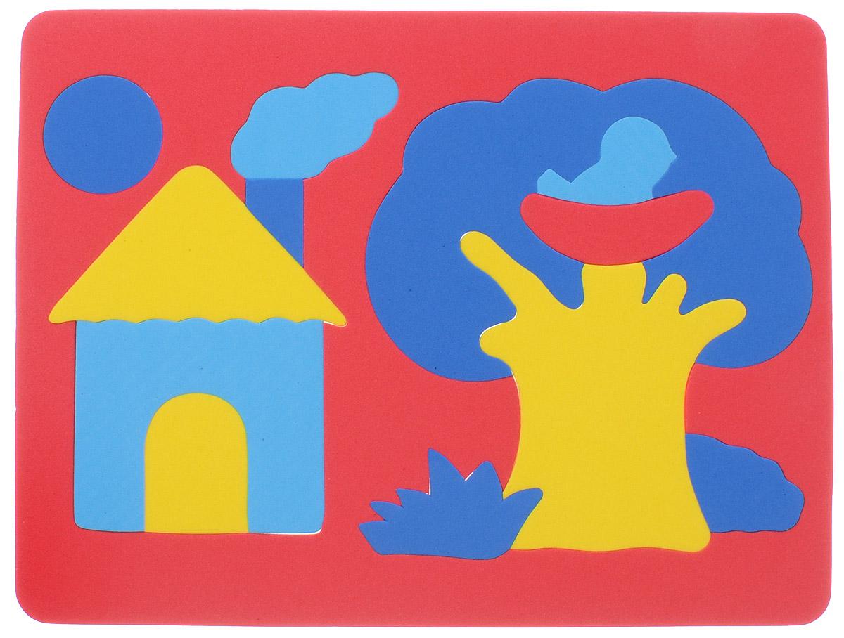 Фантазер Пазл для малышей Дом и дерево цвет основы красный