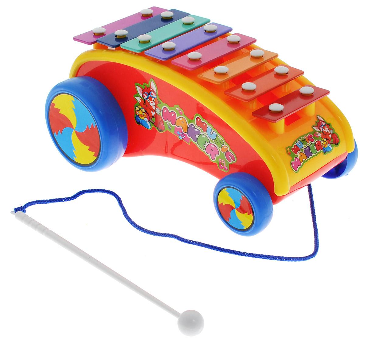 Shantou Ксилофон Машинка цвет красный машинка сортер музыкальная