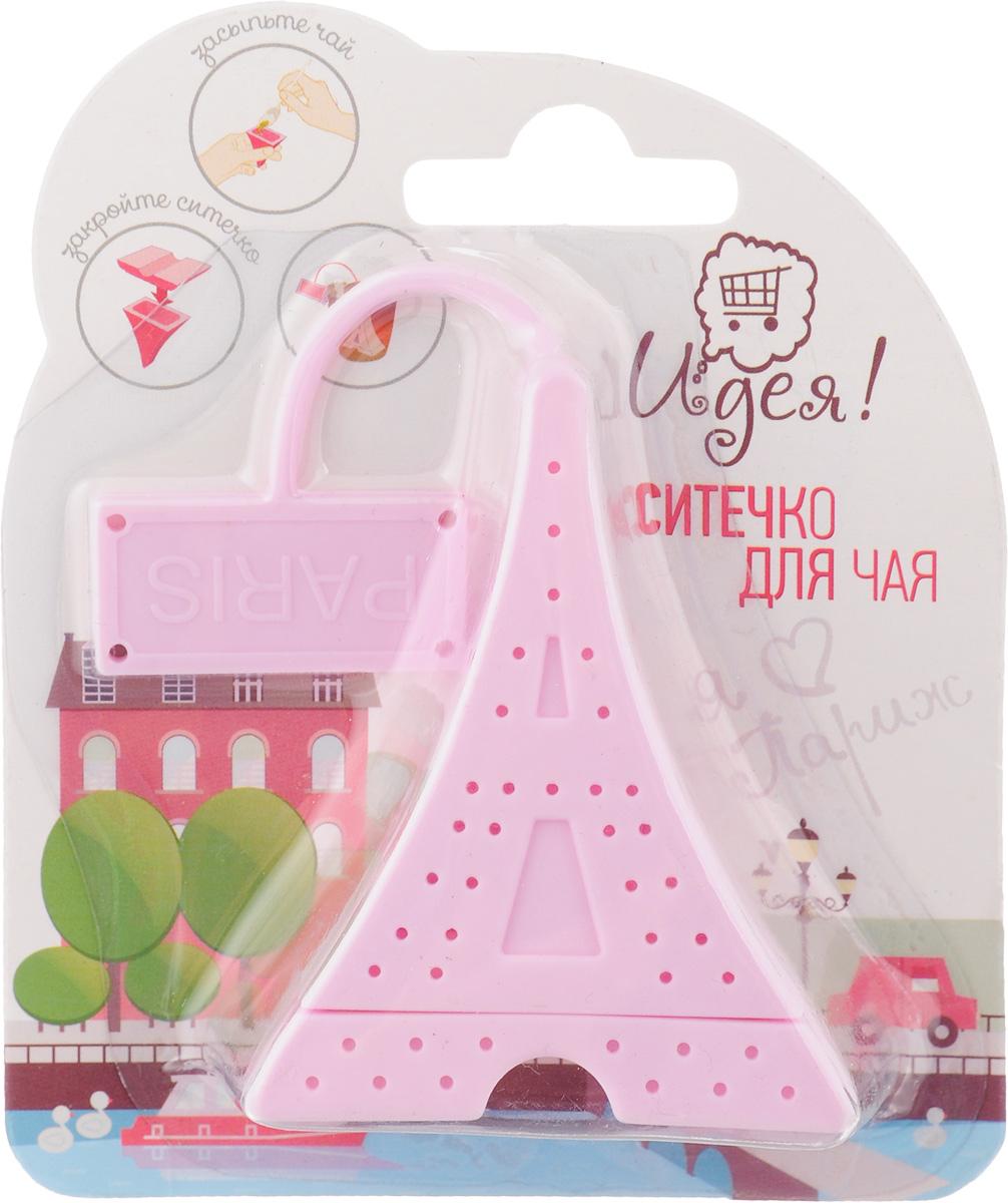 """Ситечко Идея """"Париж"""" изготовлено из силикона в виде Эйфелевой башни. Оно прекрасно подходит для заваривания любого вида чая. Оригинальная форма делает ситечко удобным и стильным аксессуаром для чаепития. Размер ситечка: 6,5 х 5,2 х 2,8 см."""