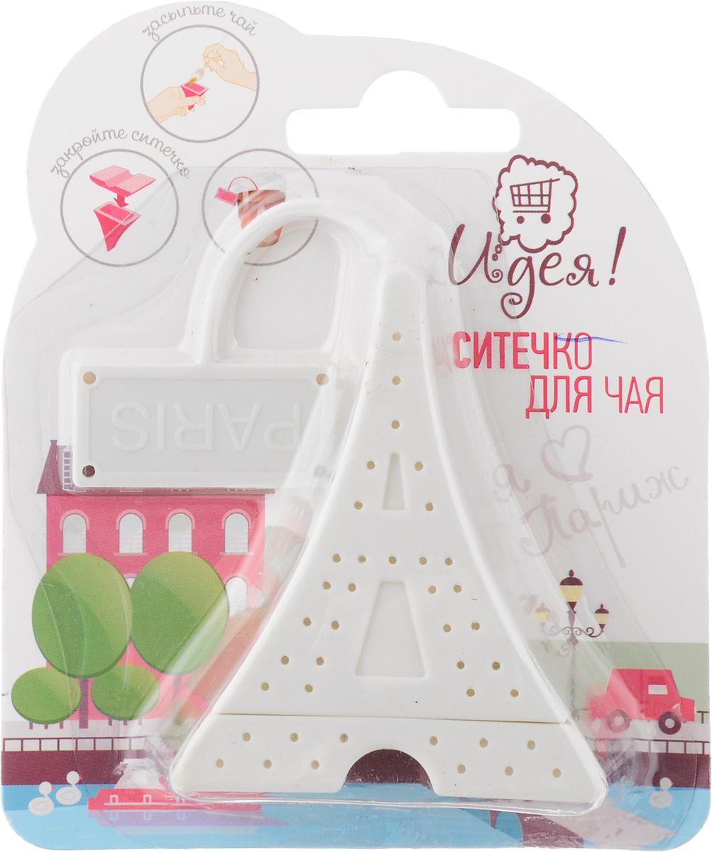 Ситечко для чая Идея Париж, цвет: бежевыйPRG-01Ситечко Идея Париж изготовлено из силикона в виде Эйфелевой башни. Оно прекрасно подходит для заваривания любого вида чая. Оригинальная форма делает ситечко удобным и стильным аксессуаром для чаепития. Размер ситечка: 6,5 х 5,2 х 2,8 см.