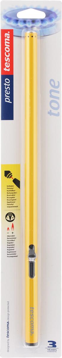 """Зажигалка газовая Tescoma """"Presto"""" отлично подходит для зажигания газовых горелок, печей, грилей, свечей. Изготовлена из качественного металла и пластика. Для наполнения используйте обычный газ для зажигалок. Нельзя мыть в посудомоечной машине."""