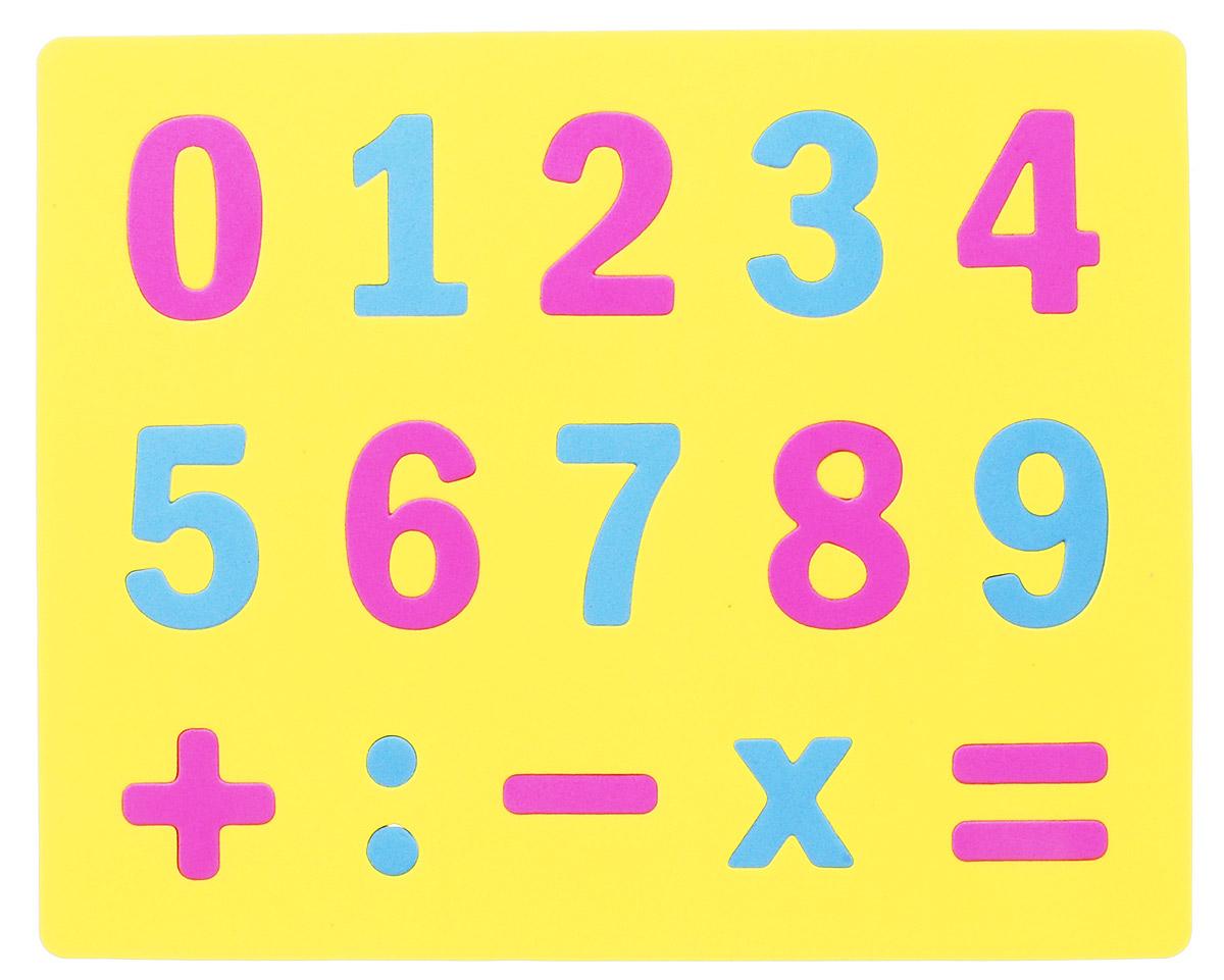 Апплика Мозаика Мягкие цифры цвет основы желтый бомик пазл для малышей цифры цвет основы желтый