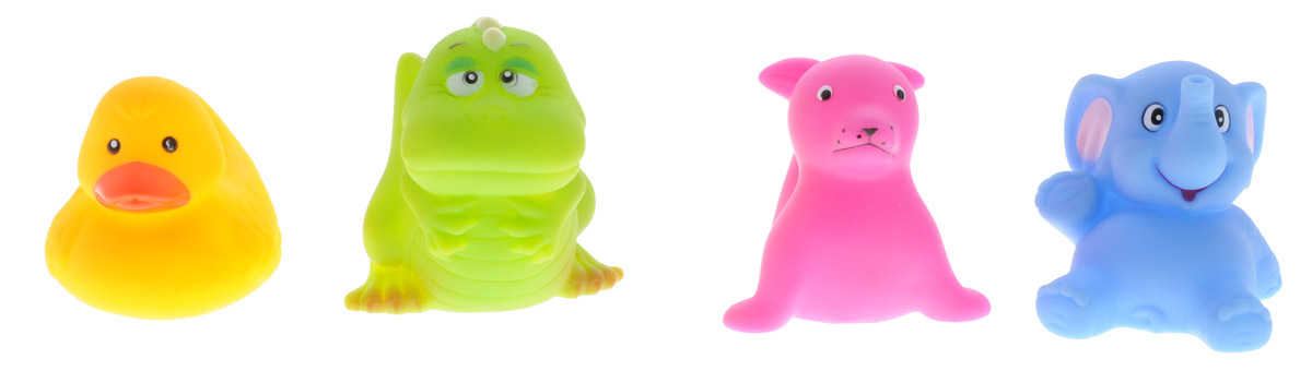 BabyOno Набор игрушек для ванной Маленькие животные 4 шт уход за малышом babyono косметический набор