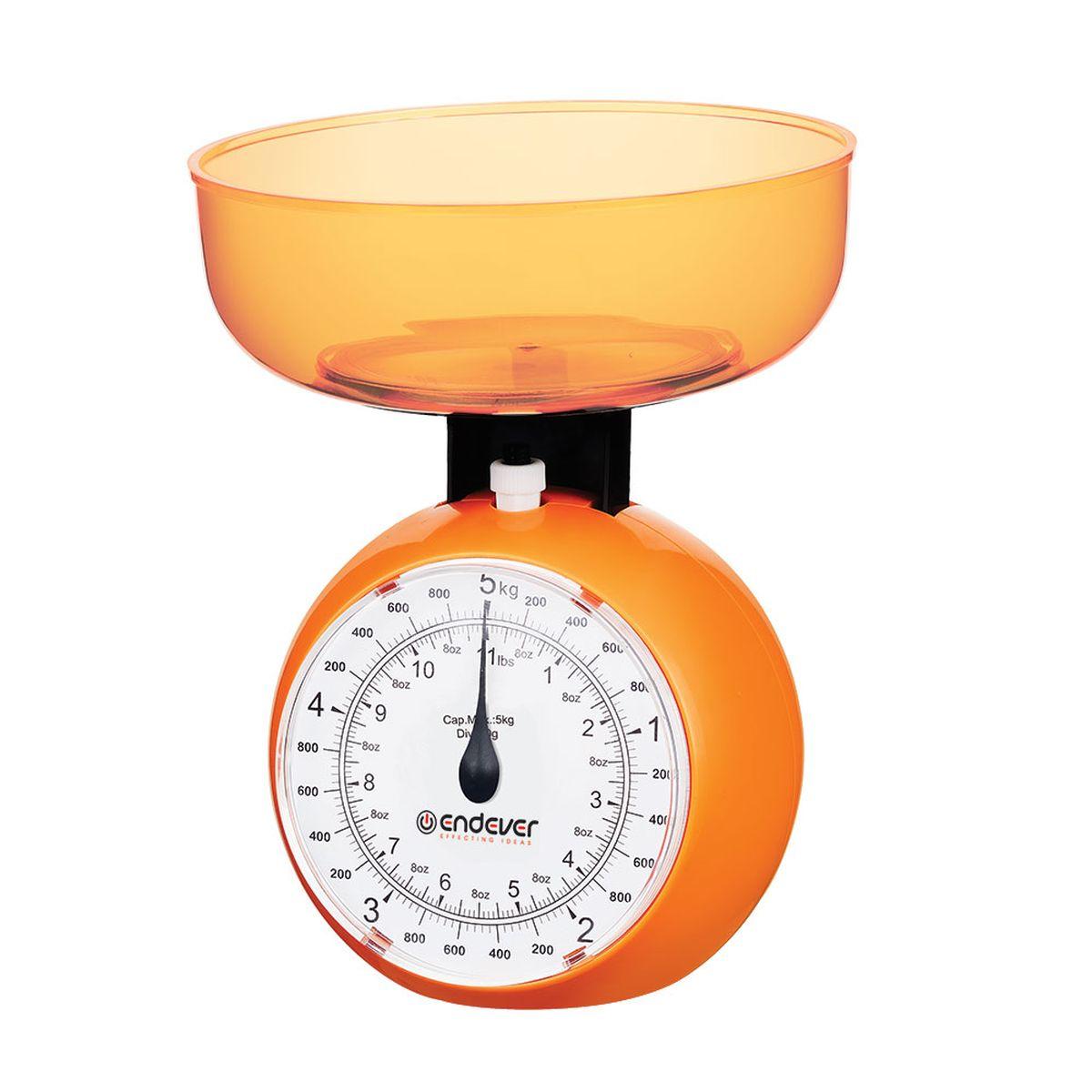 Endever KS-518 весы кухонныеKS-518Кухонные механические весы Endever KS-518 - незаменимые помощники современной хозяйки. Они помогут точно взвесить любые продукты и ингредиенты. Кроме того, позволят людям, соблюдающим диету, контролировать количество съедаемой пищи и размеры порций. Удобная чаша позволяет взвешивать сыпучие продукты.