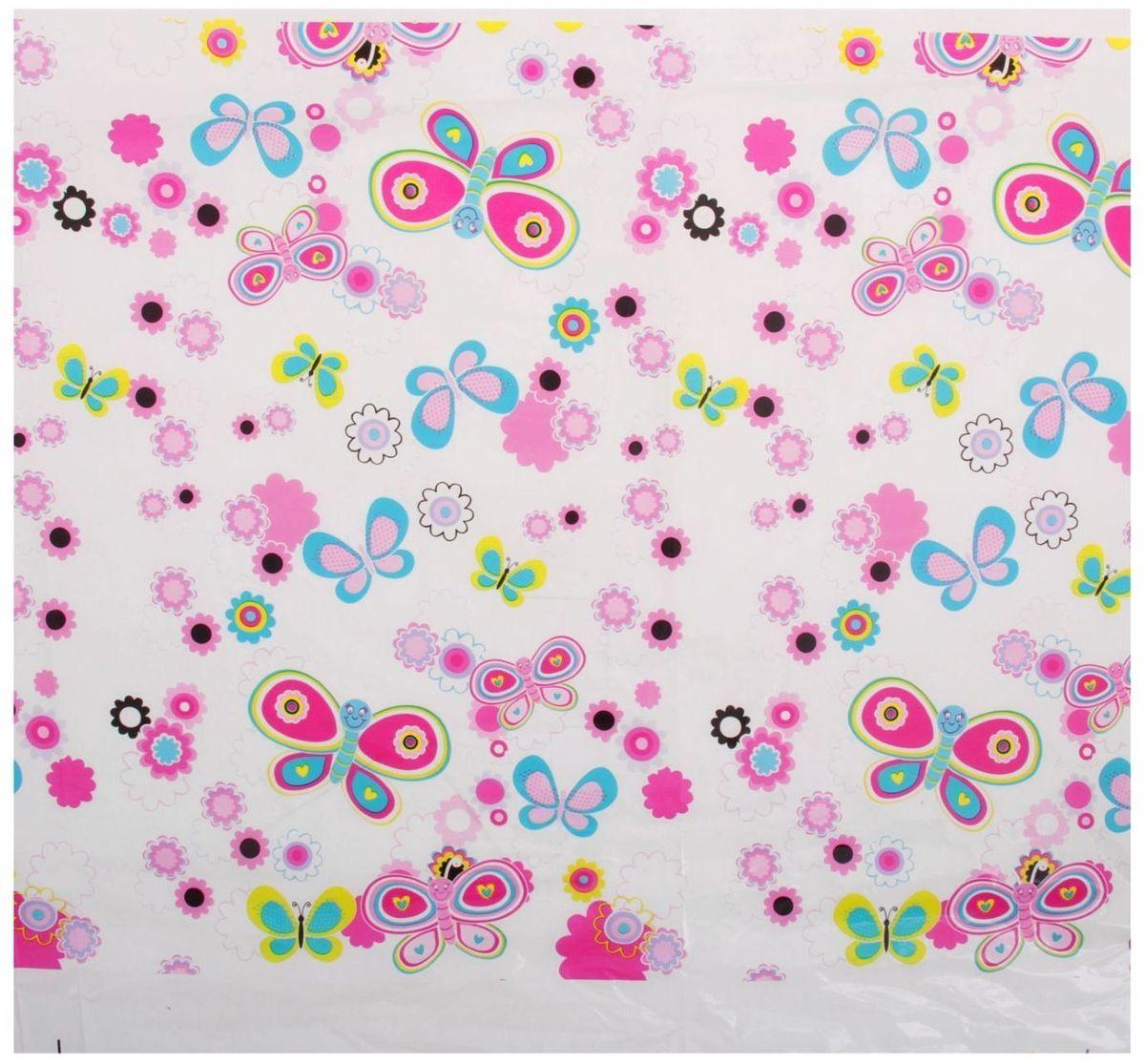 Страна Карнавалия Скатерть 108х180 Цветочки бабочки