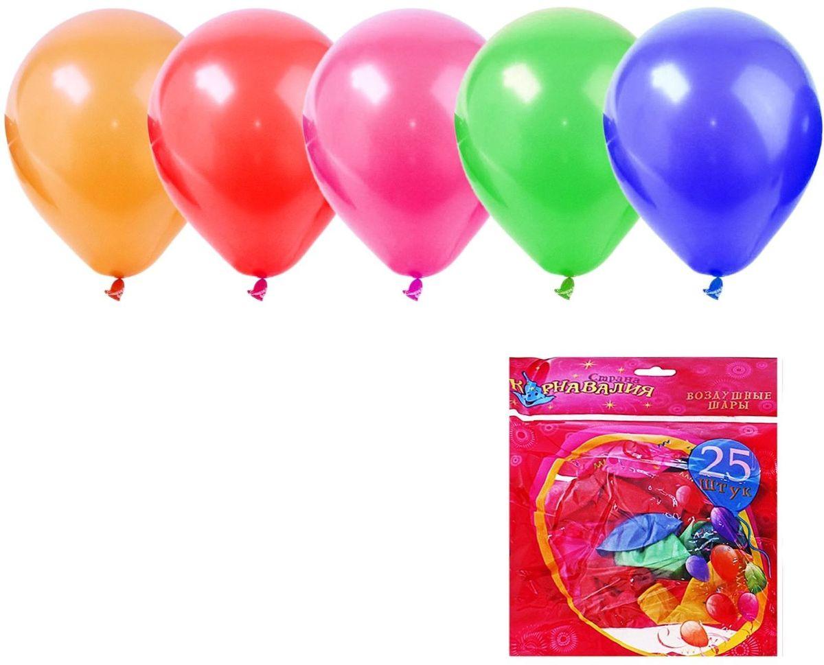 Страна Карнавалия Шар латекс Пастель Микс 25 шт страна карнавалия шар воздушный с днем рождения корона 5 шт