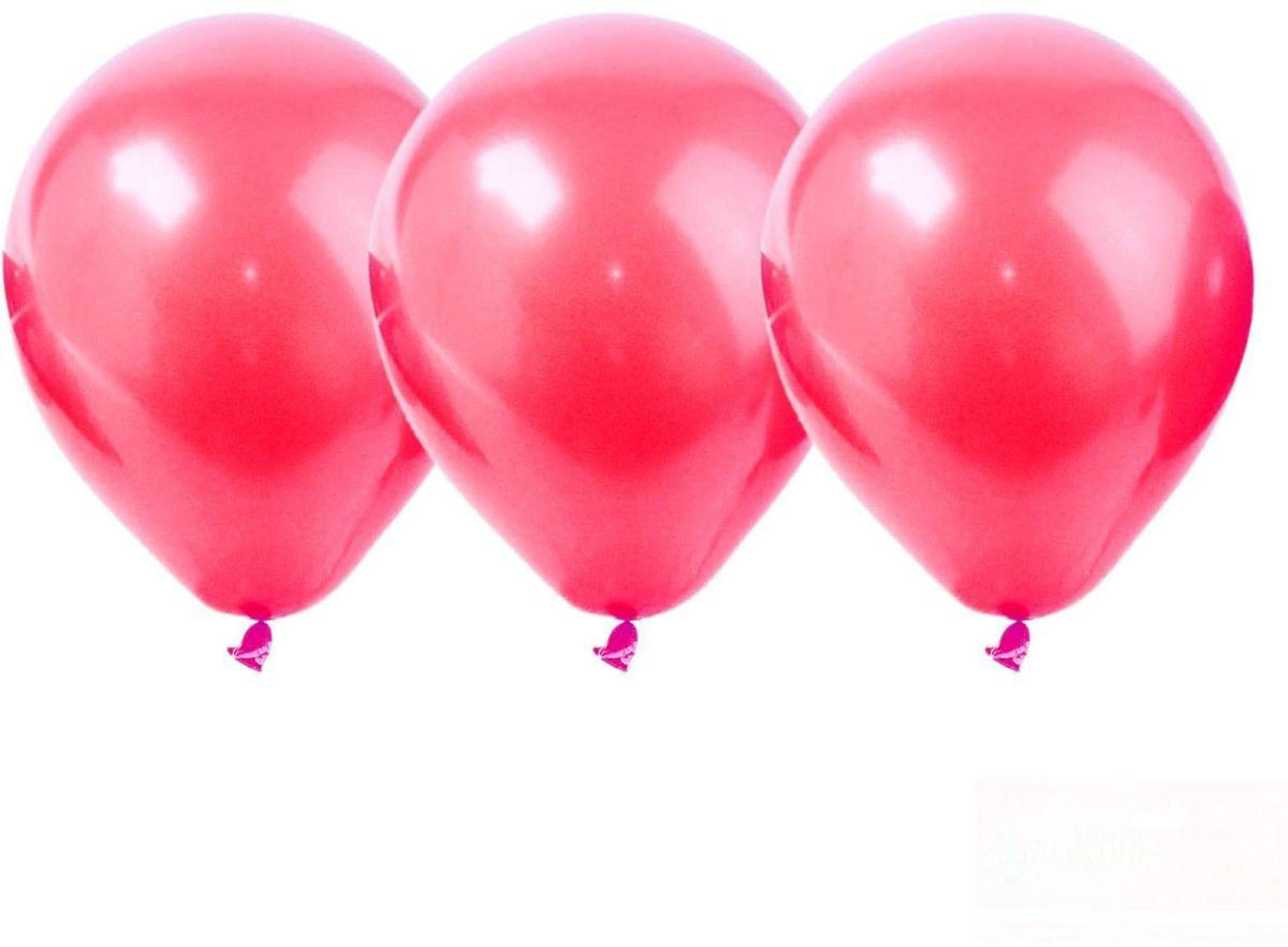 Страна Карнавалия Шар латекс Красный Металл 50 шт страна карнавалия шар воздушный с днем рождения корона 5 шт