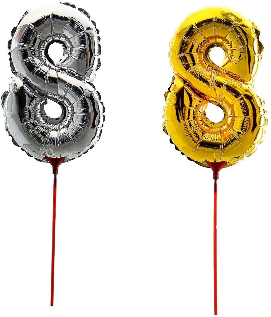 Sima-land Воздушный шарик 8 14 Трубочка 1 цвет серебро фонарь ручной huanggang цвет черный 1044830