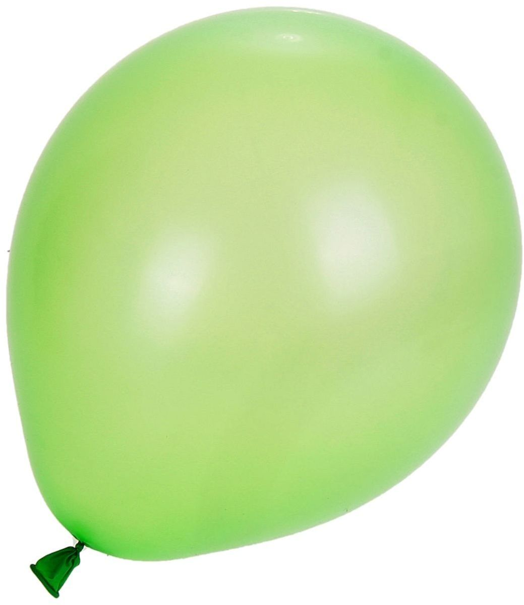 Страна Карнавалия Шар латекс Пастель Зеленый 100 шт