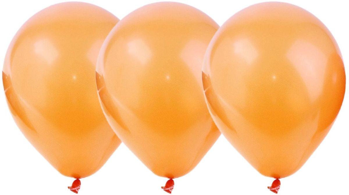 Страна Карнавалия Шар латекс Пастель Оранжевый 100 шт товары для праздника поиск воздушные шары микс средних фигур 100 шт