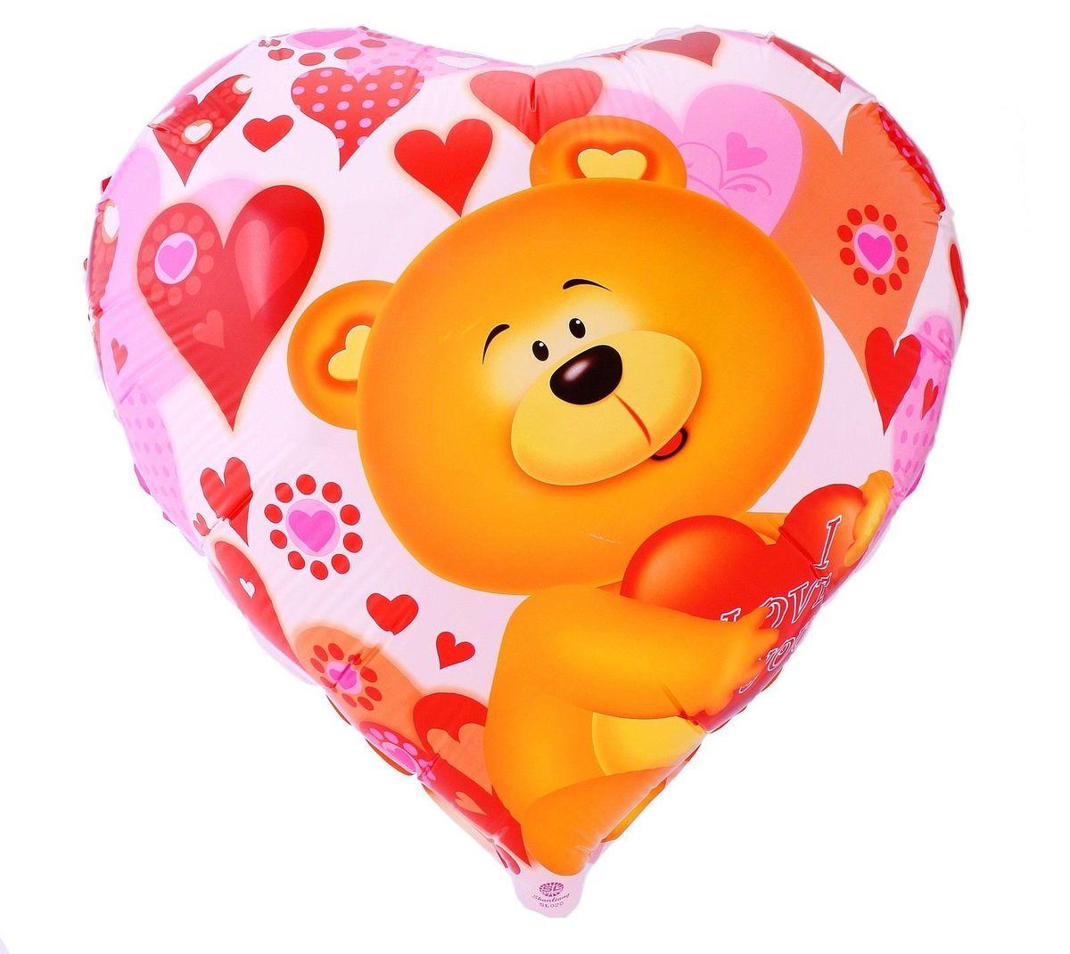 Sima-land Воздушный шарик Мишка с любовь Сердце 18