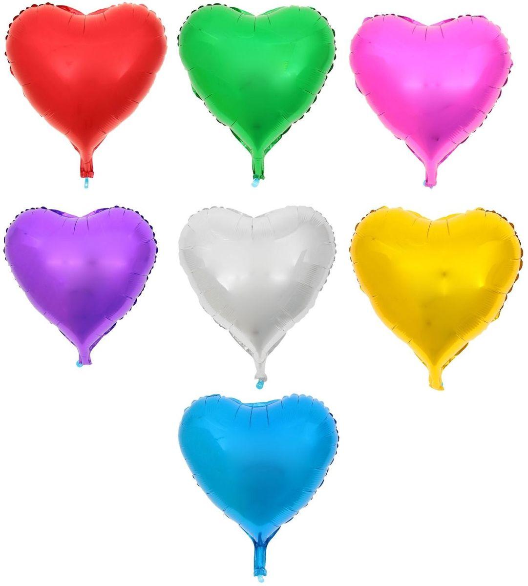 Sima-land Шар фольга Сердце 18 МИКС -  Воздушные шарики