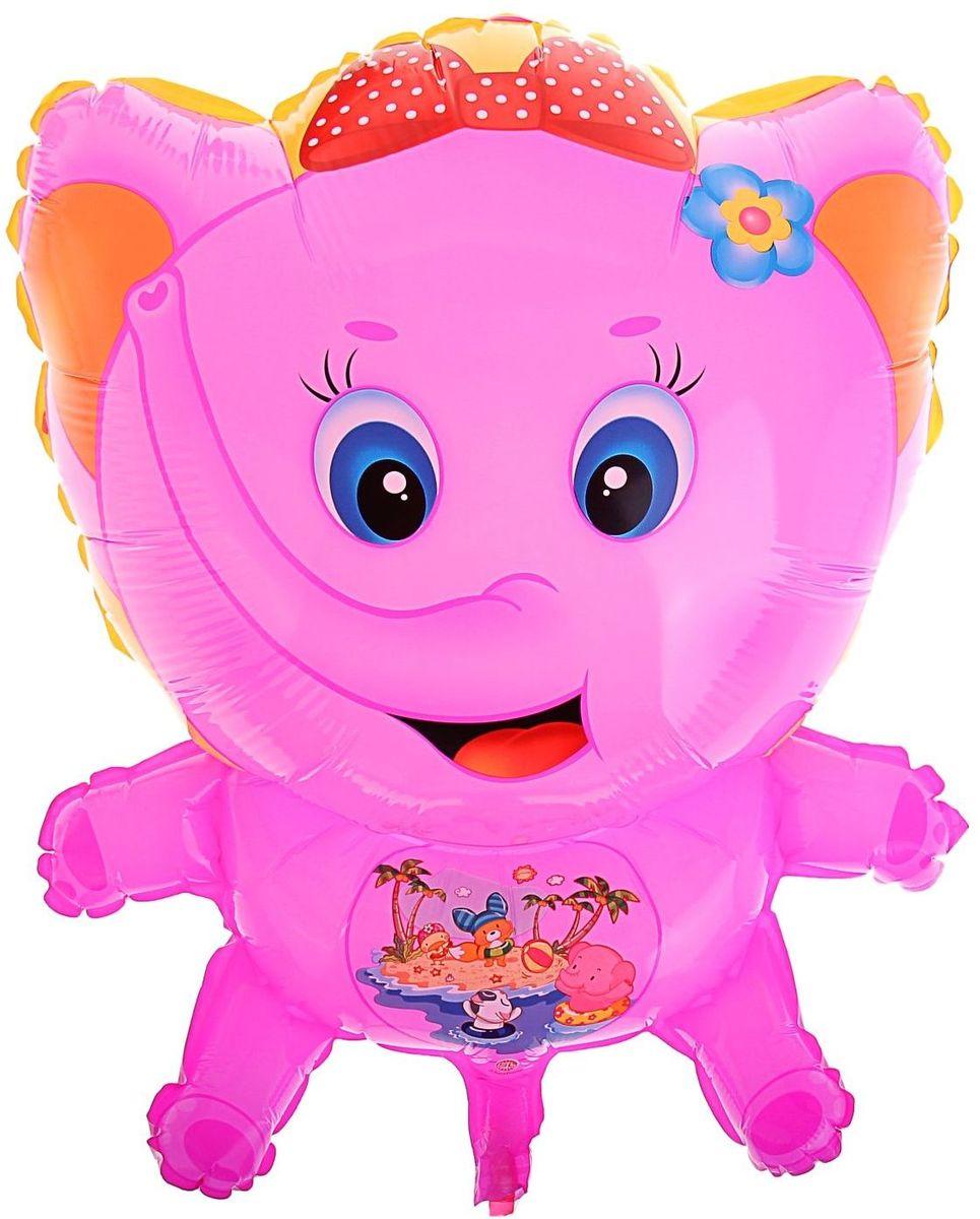 Sima-land Воздушный шар Слоненок цвет розовый