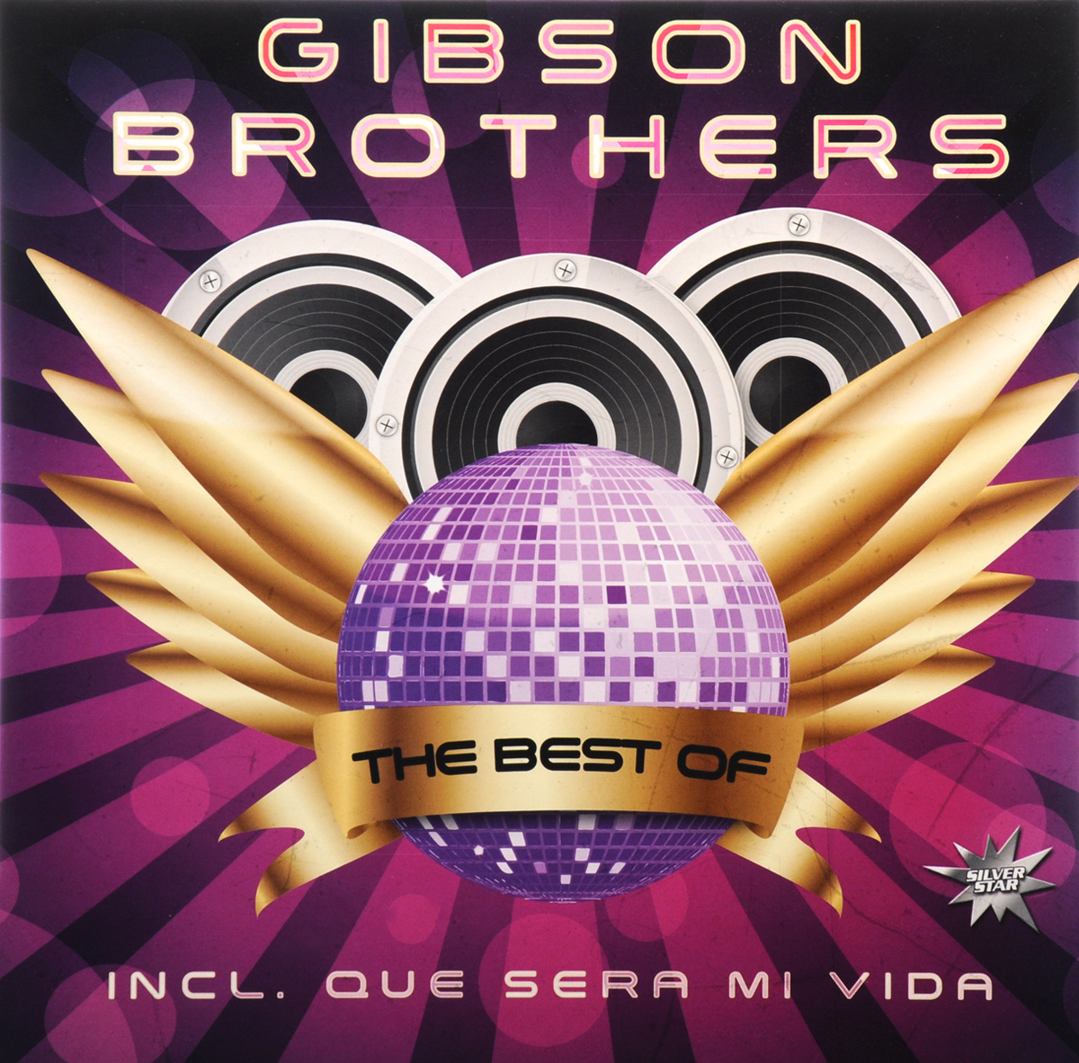 The Gibson Brothers Gibson Brothers. The Best Of (LP) sketches in lavender blue and green