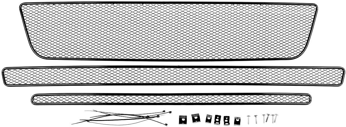 "Сетка на бампер внешняя ""Novline-Autofamily"", для FORD Explorer 2015->, для автомобилей без камеры, 3 шт"
