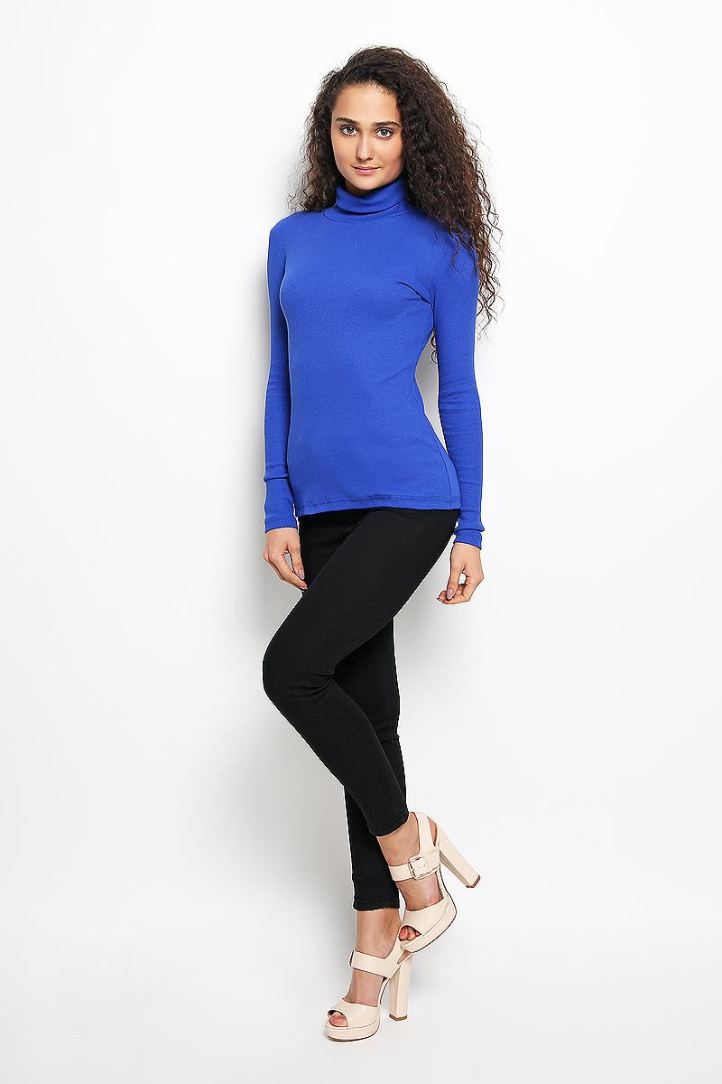 Водолазка женская Rocawear, цвет: синий. R041516. Размер M (46)R041516Женская водолазка Rocawear выполнена из мягкого эластичного хлопка. Материал изделия тактильно приятный, не сковывает движения и хорошо вентилируется. Водолазка с воротником-гольф и длинными рукавами имеет слегка приталенный силуэт.Модель идеально подойдет для повседневной носки и обеспечит комфорт и удобство в течение всего дня.