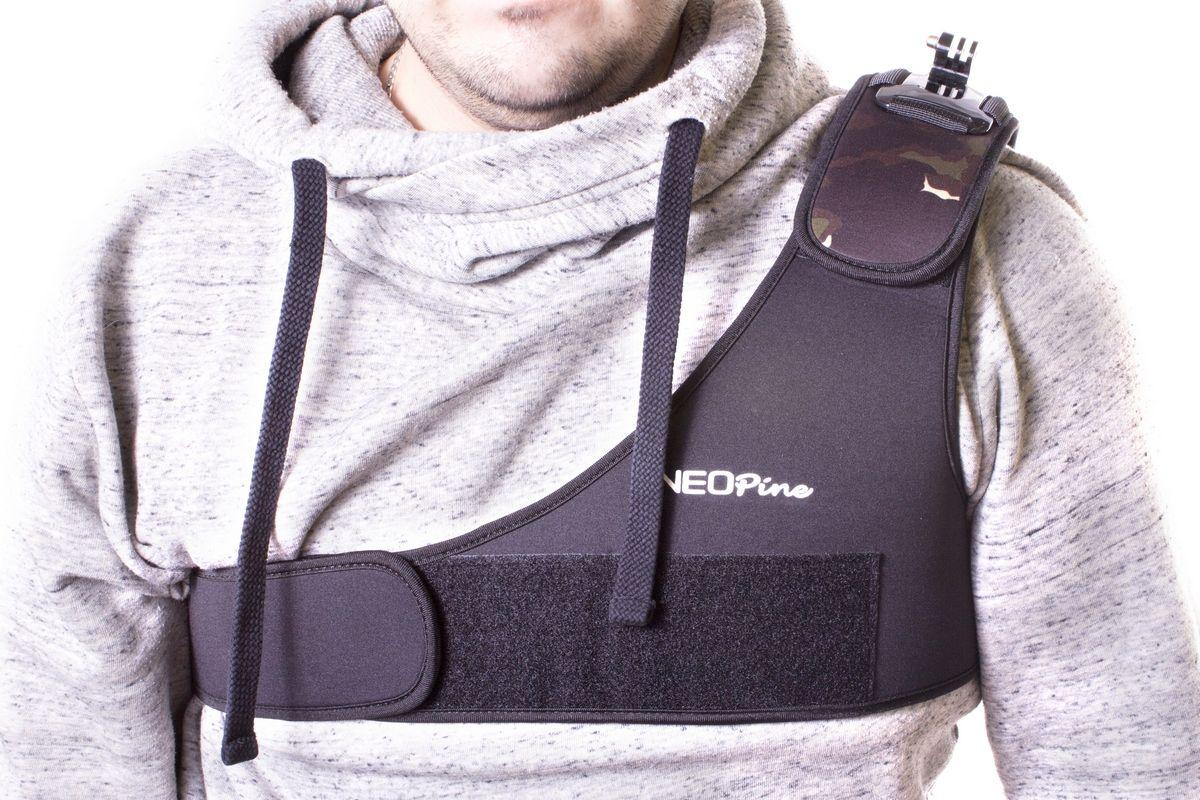 NeoPine NPSCM-1 наплечный ремень для экшн-камерNPSCM-1NeoPine NPSCM-1 - плечевой ремень для крепления экстрим-камер. Совместим с креплением камер GoPro Hero. Имеет удобное крепление липучка с поворотным креплением.