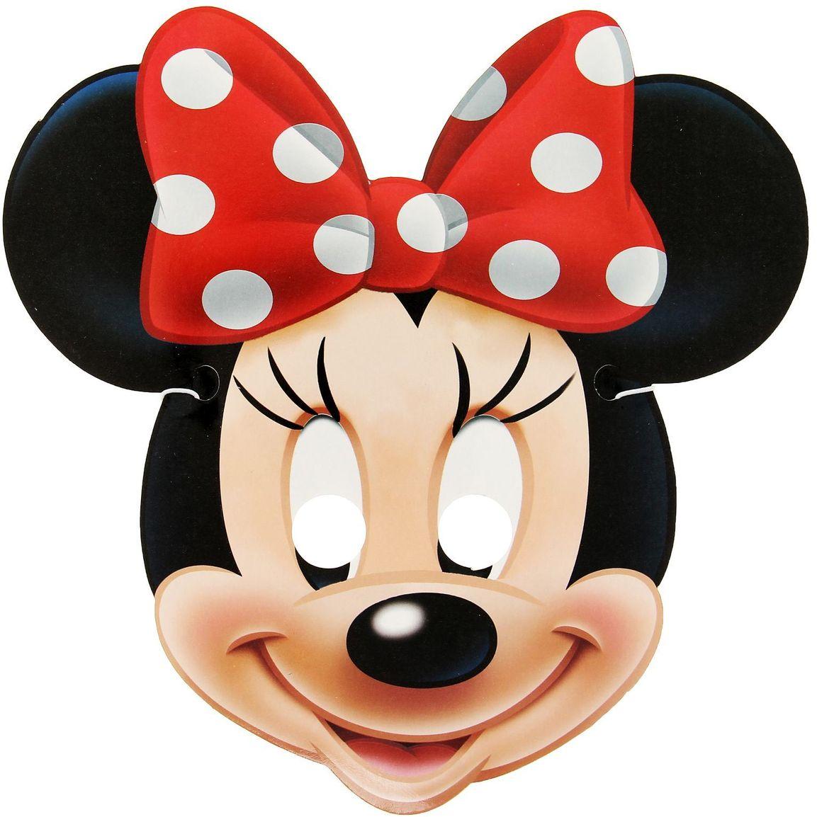 Disney Маска карнавальная детская Минни Маус disney аппликация пайетками самой модной минни маус