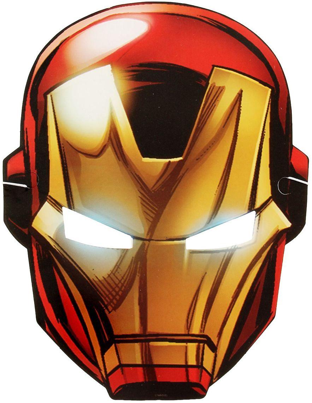 Marvel Маска карнавальная детская Железный человек маска карнавальная для вечеринки ens 19 9 см