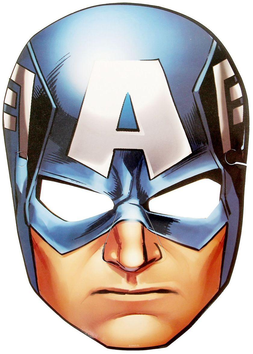 Marvel Маска карнавальная детская Капитан Америка маска карнавальная для вечеринки ens 19 9 см