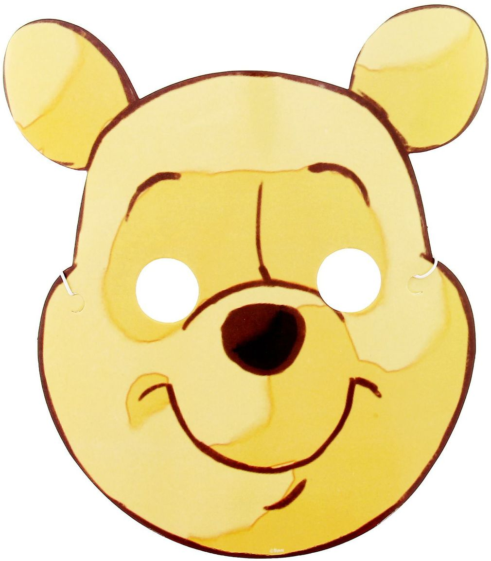 Disney Маска карнавальная детская Медвежонок Винни disney гирлянда детская подвески спиральные с днем рождения медвежонок винни