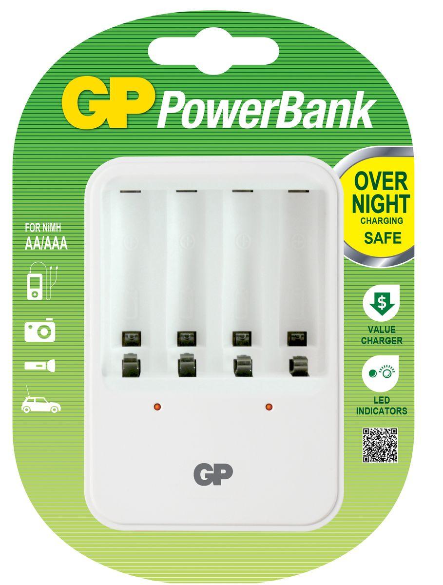Зарядное устройство GP Batteries, для заряда 4-х аккумуляторов типа АА, ААА аккумуляторы для ноутбуков и планшетов