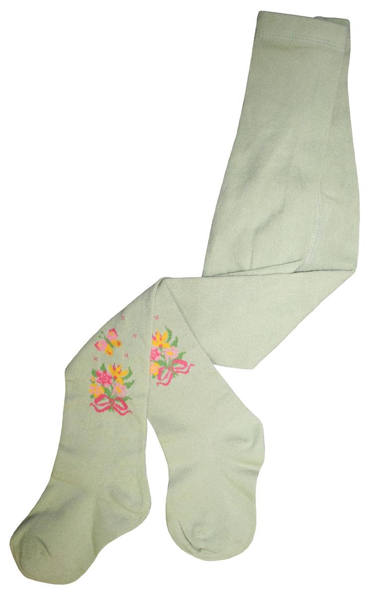 Фото Колготки для девочки Master Socks Little Lady, цвет: светло-оливковый. 81014. Размер 110/116