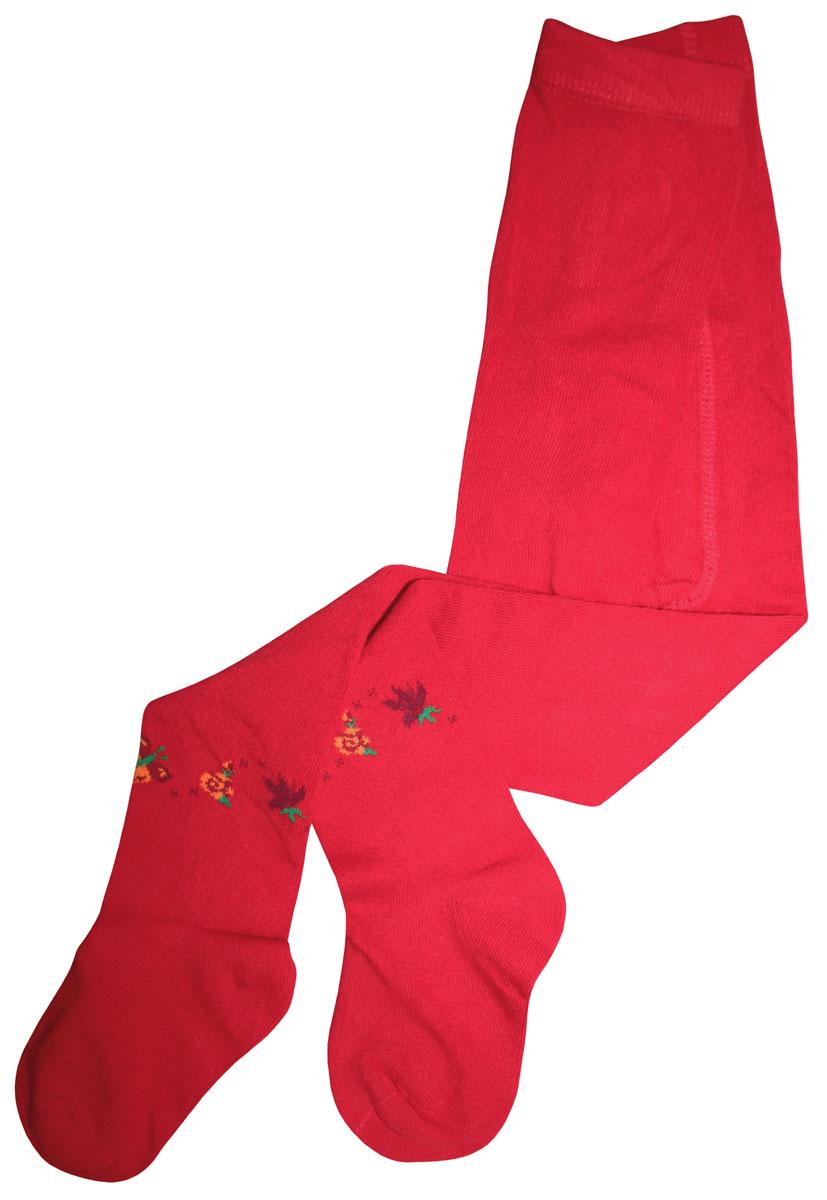 Колготки для девочки Master Socks Little Lady, цвет: красный. 81014. Размер 122/12881014Колготки Master Socks Little Lady с изящным цветочным рисунком станут незаменимой вещью в повседневном гардеробе девочки. Выполнены из высококачественного хлопкового материала, мягкого и нежного на ощупь, с широкой резинкой на поясе. Идеально смотрятся на ножке.