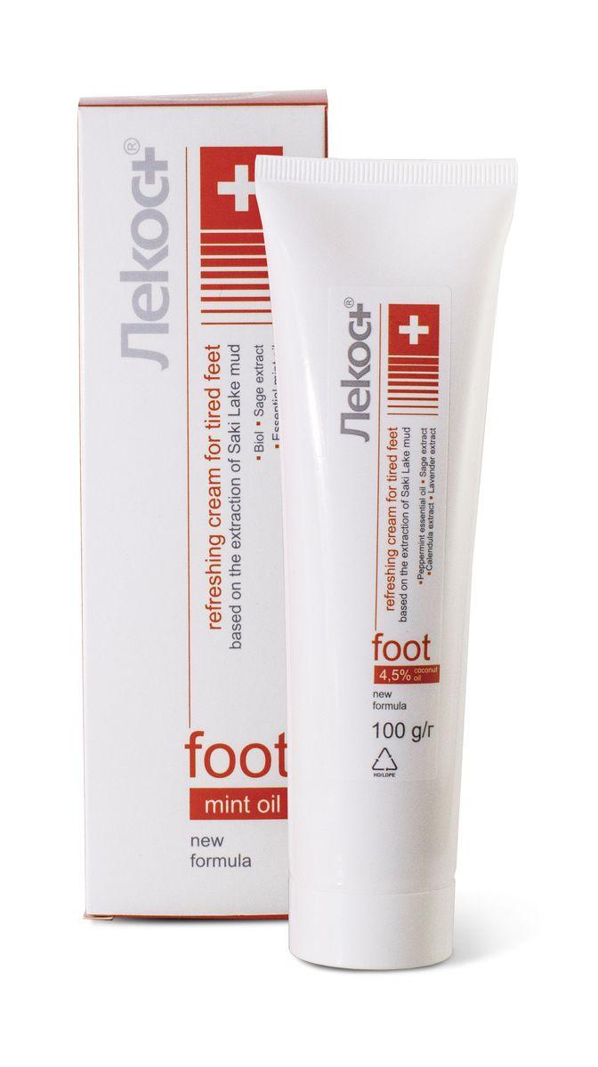 Лекос+ Освежающий крем для уставших ног, 100 г1711Тонизирующий гель для ног «Венотоник» с инновационным комплексом активных компонентов. Эффективно снимает отеки и боль в ногах, укрепляет стенки сосудов, усиливает венозный кровоток, обеспечивая профилактику варикозного расширения вен. Способствует быстрому заживлению трещинок, делая кожу гладкой и эластичной. Укрепляет капилляры, повышает тонус венозных сосудов, снимает ощущение «тяжести ног».