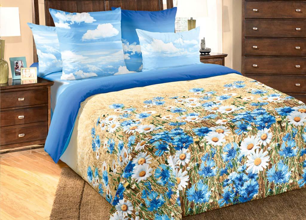 Комплект белья Primavera Васельки, 2-спальный, наволочки 70x70, цвет: голубой81104Наволочки с декоративным кантом особенно подойдут, если вы предпочитаете класть подушки поверх покрывала. Кайма шириной 5-10см с трех или четырех сторон делает подушки визуально более объемными, смотрятся они очень аккуратно, даже парадно. Еще такие наволочки называют оксфордскими или наволочками «с ушками».Сатин – прочная и плотная ткань с диагональным переплетением нитей. Хлопковый сатин по мягкости и гладкости уступает атласу, зато не будет соскальзывать с кровати. Сатиновое постельное белье легко переносит стирку в горячей воде, не выцветает. Прослужит комплект из обычного сатина меньше, чем из сатина повышенной плотности, но дольше белья из любой другой хлопковой ткани. Сатин приятен на ощупь, под ним комфортно спать летом и зимой.Производство «Примавера» находится в Китае, что позволяет сократить расходы на доставку хлопка. Поэтому цены на это постельное белье более чем скромные и это не сказывается на качестве. Сатин очень гладкий, мягкий, но при этом, невероятно прочный. Он прослужит вам действительно долго и не полиняет. Для нанесения рисунков используют только безопасные для окружающей среды и здоровья человека красители.