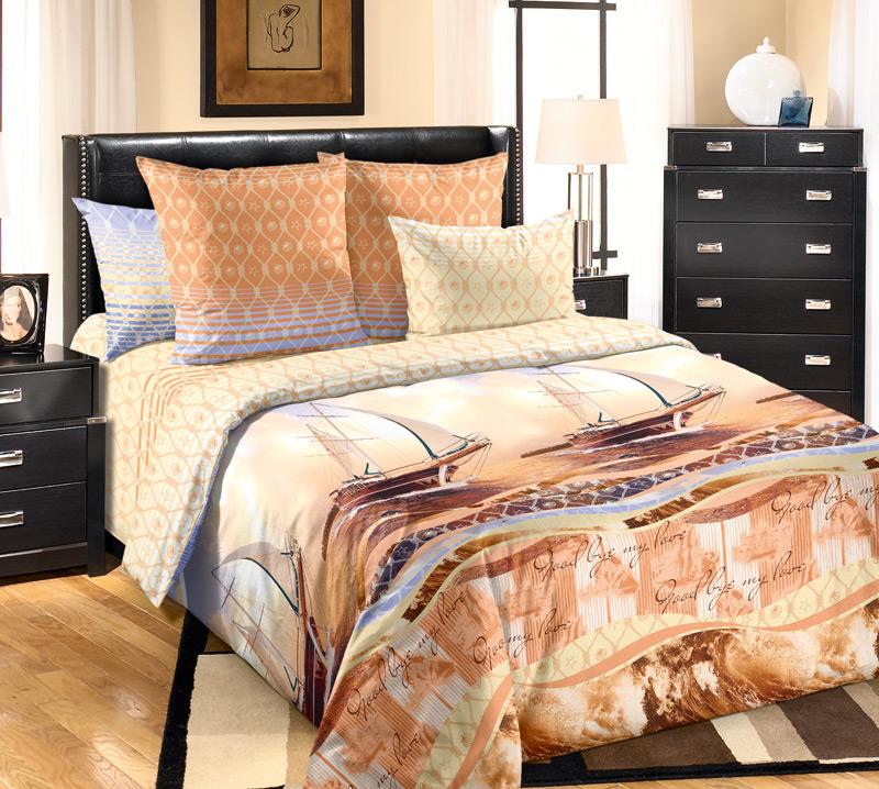 Комплект белья Primavera Круиз, 2-спальный, наволочки 70x70, цвет: желто-оранжевый84815Наволочки с декоративным кантом особенно подойдут, если вы предпочитаете класть подушки поверх покрывала. Кайма шириной 5-10см с трех или четырех сторон делает подушки визуально более объемными, смотрятся они очень аккуратно, даже парадно. Еще такие наволочки называют оксфордскими или наволочками «с ушками».Сатин – прочная и плотная ткань с диагональным переплетением нитей. Хлопковый сатин по мягкости и гладкости уступает атласу, зато не будет соскальзывать с кровати. Сатиновое постельное белье легко переносит стирку в горячей воде, не выцветает. Прослужит комплект из обычного сатина меньше, чем из сатина повышенной плотности, но дольше белья из любой другой хлопковой ткани. Сатин приятен на ощупь, под ним комфортно спать летом и зимой.Производство «Примавера» находится в Китае, что позволяет сократить расходы на доставку хлопка. Поэтому цены на это постельное белье более чем скромные и это не сказывается на качестве. Сатин очень гладкий, мягкий, но при этом, невероятно прочный. Он прослужит вам действительно долго и не полиняет. Для нанесения рисунков используют только безопасные для окружающей среды и здоровья человека красители.