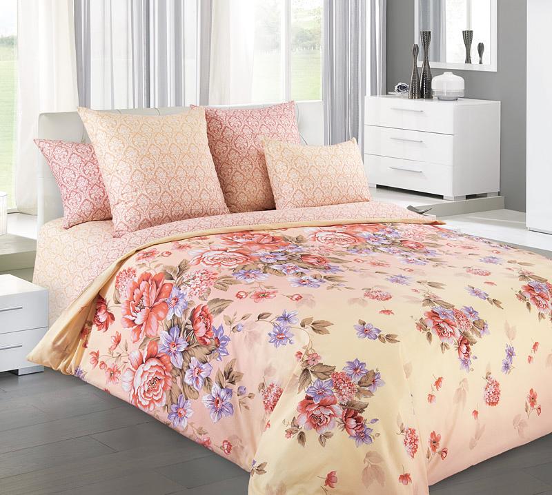 Комплект белья Primavera Карамель, 2-спальный, наволочки 70x7086523Комплект постельного белья Primavera Карамель является экологически безопасным для всей семьи, так как выполнен из высококачественного перкаля. Комплект состоит из пододеяльника, простыни и двух наволочек. Постельное белье оформлено ярким цветочным рисунком и имеет изысканный внешний вид. Перкаль представляет собой очень прочную ткань высочайшего качества, которую производят из чесаного хлопка. Перкаль обладает матовой, слегка бархатистой поверхностью. Несмотря на высокую прочность и плотность, перкаль - мягкий и нежный материал. Приобретая комплект постельного белья Primavera Карамель, вы можете быть уверенны в том, что покупка доставит вам и вашим близким удовольствие и подарит максимальный комфорт.