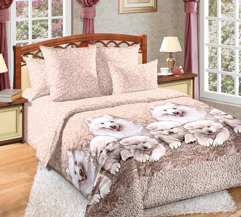 Комплект белья Primavera Джеси, семейный, наволочки 70x70, цвет: бежевый primavera