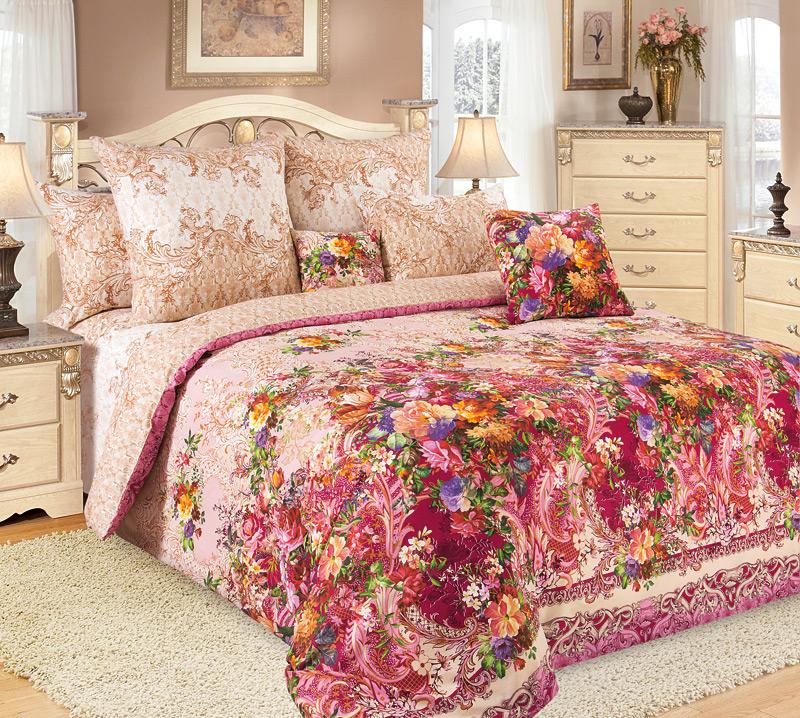 Комплект белья Primavera Чары, 2-спальный, наволочки 70x70, цвет: розовый86824Наволочки с декоративным кантом особенно подойдут, если вы предпочитаете класть подушки поверх покрывала. Кайма шириной 5-10см с трех или четырех сторон делает подушки визуально более объемными, смотрятся они очень аккуратно, даже парадно. Еще такие наволочки называют оксфордскими или наволочками «с ушками».Сатин – прочная и плотная ткань с диагональным переплетением нитей. Хлопковый сатин по мягкости и гладкости уступает атласу, зато не будет соскальзывать с кровати. Сатиновое постельное белье легко переносит стирку в горячей воде, не выцветает. Прослужит комплект из обычного сатина меньше, чем из сатина повышенной плотности, но дольше белья из любой другой хлопковой ткани. Сатин приятен на ощупь, под ним комфортно спать летом и зимой.Производство «Примавера» находится в Китае, что позволяет сократить расходы на доставку хлопка. Поэтому цены на это постельное белье более чем скромные и это не сказывается на качестве. Сатин очень гладкий, мягкий, но при этом, невероятно прочный. Он прослужит вам действительно долго и не полиняет. Для нанесения рисунков используют только безопасные для окружающей среды и здоровья человека красители.