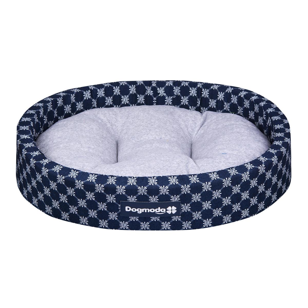 Лежак для животных Dogmoda Сезон, цвет: синий, серый, 50 х 44 х 12 см