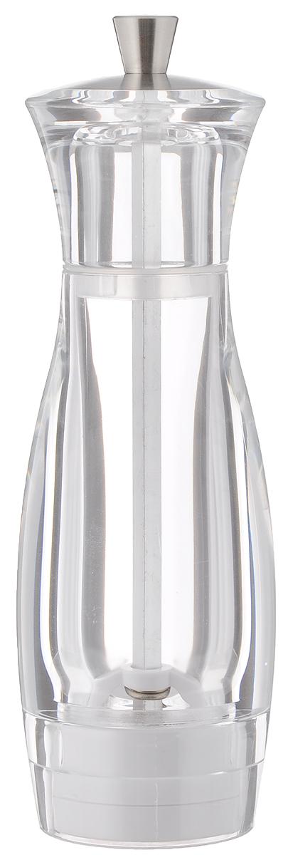 Мельница для соли Tescoma Virgo, высота 16 см658206Мельница для соли Tescoma Virgo - отличное приспособление для приготовления блюд со свежемолотой солью. Изделие имеет керамический механизм помола и регулировку степени грубости помола. Мельница выполнена из прозрачного пластика и нержавеющей стали. Прозрачные стенки позволяют видеть количество содержимого.Не предназначена для мытья в посудомоечной машине.