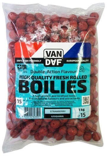Бойлы VAN DAF Клубника, цвет: красный, диаметр 15 мм, 1 кг 一代名将许世友