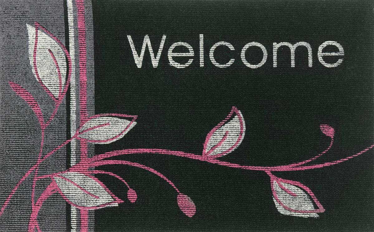Коврик придверный EFCO Нью Эден, цвет: темно-зеленый, белый, розовый, 68 х 45 см18420/зелОригинальный придверный коврик EFCO Нью Эден надежнозащитит помещение от уличной пыли и грязи. Изделиевыполнено из 100% полипропилена, основа - суперлатекс.Такой коврик сохранит привлекательный внешний вид надолгое время, а благодаря латексной основе, он легко чиститсяи моется.