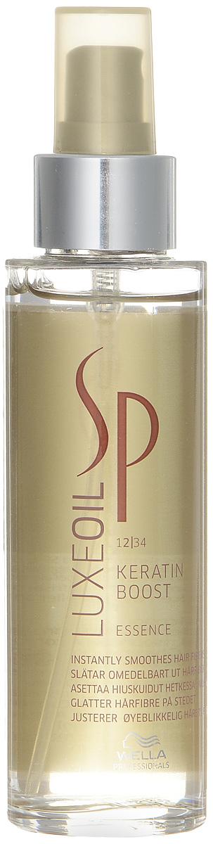 Wella SP Эссенция для восстановления кератина волос Luxe Line Keratin Boost Essence, 100 мл wella sp молекулярный рефиллер repair liquid hair 100 мл