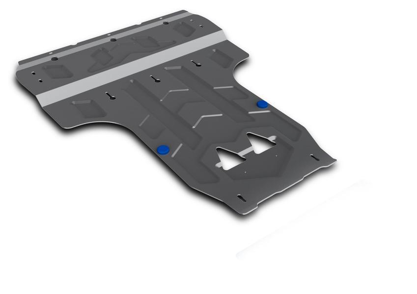 Защита картера и КПП Rival, для Audi A6/A7. 333.0314.2333.0314.2Защита картера и КПП Rival изготовленная из алюминия толщиной 4 мм, надежно защитит днище вашего автомобиля от повреждений, например при наезде на бордюры, а также выполняет эстетическую функцию при установке на высокие автомобили.- Толщина алюминиевых защит в 2 раза толще стальных, а вес при этом меньше до 30%.- Отлично отводит тепло от двигателя своей поверхностью, что спасает двигатель от перегрева в летний период или при высоких нагрузках.- В отличие от стальных, алюминиевые защиты не поддаются коррозии, что гарантирует срок службы защит более 5 лет.- Покрываются порошковой краской, что надолго сохраняет первоначальный вид новой защиты и защищает от гальванической коррозии.- Глубокий штамп дополнительно усиливает конструкцию защиты.- Подштамповка в местах крепления защищает крепеж от срезания.- Технологические отверстия там, где они необходимы для смены масла и слива воды, оборудованные заглушками, надежно закрепленными на защите.Крепеж в комплекте. Уважаемые клиенты!Обращаем ваше внимание, на тот факт, что защита имеет форму, соответствующую модели данного автомобиля. Фото служит для визуального восприятия товара.