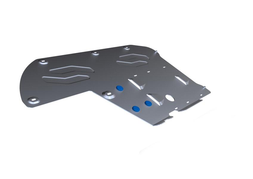 Защита КПП и РК Rival, для BMW 5/GT. 333.0514.3333.0514.3Защита КПП и РК для BMW 5 , 528i xDrive, 530d xDrive 2010-, крепеж в комплекте, алюминий 4 мм, Rival. Надежно защищают днище вашего автомобиля от повреждений, например при наезде на бордюры, а также выполняют эстетическую функцию при установке на высокие автомобили.- Толщина алюминиевых защит в 2 раза толще стальных, а вес при этом меньше до 30%.- Отлично отводит тепло от двигателя своей поверхностью, что спасает двигатель от перегрева в летний период или при высоких нагрузках.- В отличие от стальных, алюминиевые защиты не поддаются коррозии, что гарантирует срок службы защит более 5 лет.- Покрываются порошковой краской, что надолго сохраняет первоначальный вид новой защиты и защищает от гальванической коррозии.- Глубокий штамп дополнительно усиливает конструкцию защиты.- Подштамповка в местах крепления защищает крепеж от срезания.- Технологические отверстия там, где они необходимы для смены масла и слива воды, оборудованные заглушками, надежно закрепленными на защите.Уважаемые клиенты!Обращаем ваше внимание, на тот факт, что защита имеет форму, соответствующую модели данного автомобиля. Фото служит для визуального восприятия товара.