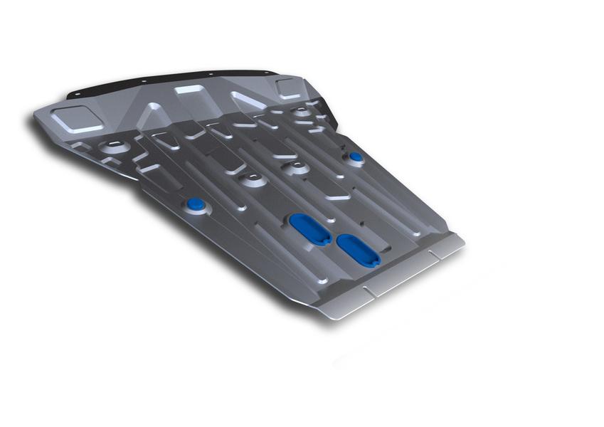 Защита картера Rival, для BMW X5. 333.0523.1333.0523.1Защита картера для BMW X5 , 30d 2013-, крепеж в комплекте, алюминий 4 мм, Rival. Надежно защищают днище вашего автомобиля от повреждений, например при наезде на бордюры, а также выполняют эстетическую функцию при установке на высокие автомобили.- Толщина алюминиевых защит в 2 раза толще стальных, а вес при этом меньше до 30%.- Отлично отводит тепло от двигателя своей поверхностью, что спасает двигатель от перегрева в летний период или при высоких нагрузках.- В отличие от стальных, алюминиевые защиты не поддаются коррозии, что гарантирует срок службы защит более 5 лет.- Покрываются порошковой краской, что надолго сохраняет первоначальный вид новой защиты и защищает от гальванической коррозии.- Глубокий штамп дополнительно усиливает конструкцию защиты.- Подштамповка в местах крепления защищает крепеж от срезания.- Технологические отверстия там, где они необходимы для смены масла и слива воды, оборудованные заглушками, надежно закрепленными на защите.Уважаемые клиенты!Обращаем ваше внимание, на тот факт, что защита имеет форму, соответствующую модели данного автомобиля. Фото служит для визуального восприятия товара.