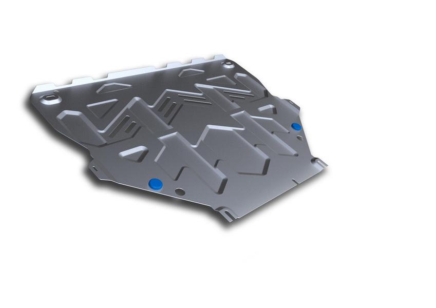 Защита картера и КПП Rival, для FORD Kuga II. 333.1838.1333.1838.1Защита картера и КПП предназначена для автомобилей Ford Kuga.Надежно защищают днище вашего автомобиля от повреждений, например, при наезде на бордюры, а также выполняют эстетическую функцию при установке на высокие автомобили. - Толщина алюминиевых защит в 2 раза толще стальных (4 мм), а вес при этом меньше до 30%. - Отлично отводит тепло от двигателя своей поверхностью, что спасает двигатель от перегрева в летний период или при высоких нагрузках. - В отличие от стальных, алюминиевые защиты не поддаются коррозии, что гарантирует срок службы защит более 5 лет. - Покрываются порошковой краской, что надолго сохраняет первоначальный вид новой защиты и защищает от гальванической коррозии. - Глубокий штамп дополнительно усиливает конструкцию защиты. - Подштамповка в местах крепления защищает крепеж от срезания. - Технологические отверстия там, где они необходимы для смены масла и слива воды, оборудованные заглушками, надежно закрепленными на защите.Уважаемые клиенты! Обращаем ваше внимание, на тот факт, что защита имеет форму, соответствующую модели данного автомобиля. Фото служит для визуального восприятия товара.
