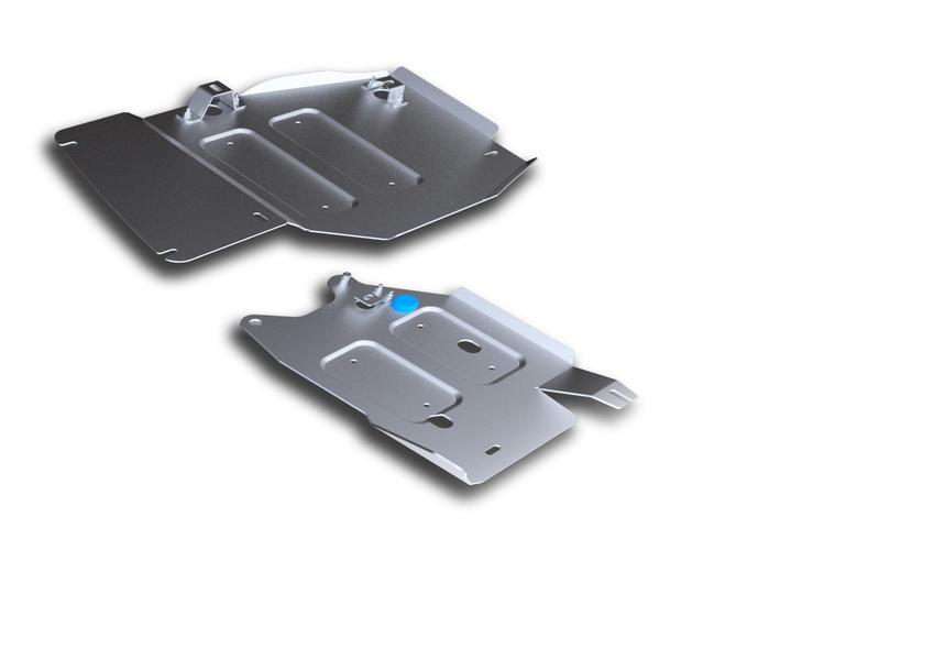 Защита РК и топливных трубок Rival, для Jeep Grand Cherokee. 333.2735.1333.2735.1Защита РК и топливных трубок для Jeep Grand Cherokee , V - 3,0 ;3TDI; 3,6; 5,7 2010-2014 2014-, крепеж в комплекте, алюминий 4 мм, Rival. Надежно защищают днище вашего автомобиля от повреждений, например при наезде на бордюры, а также выполняют эстетическую функцию при установке на высокие автомобили.- Толщина алюминиевых защит в 2 раза толще стальных, а вес при этом меньше до 30%.- Отлично отводит тепло от двигателя своей поверхностью, что спасает двигатель от перегрева в летний период или при высоких нагрузках.- В отличие от стальных, алюминиевые защиты не поддаются коррозии, что гарантирует срок службы защит более 5 лет.- Покрываются порошковой краской, что надолго сохраняет первоначальный вид новой защиты и защищает от гальванической коррозии.- Глубокий штамп дополнительно усиливает конструкцию защиты.- Подштамповка в местах крепления защищает крепеж от срезания.- Технологические отверстия там, где они необходимы для смены масла и слива воды, оборудованные заглушками, надежно закрепленными на защите.Уважаемые клиенты!Обращаем ваше внимание, на тот факт, что защита имеет форму, соответствующую модели данного автомобиля. Фото служит для визуального восприятия товара.